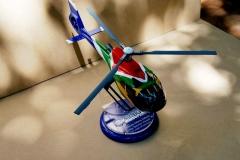 South African flag custom spray paint