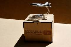PEGASUS scale model handout (silver) 7 MDF box