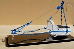 VR-STEEL-BUCKET-BLUE-CHAIN4 Scale model